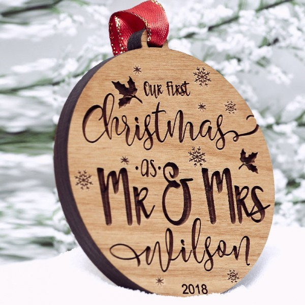 Wooden custom Christmas Ornaments