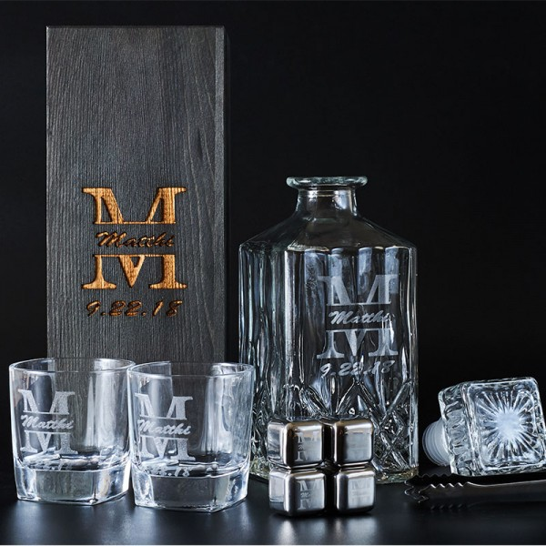 Personalized Engraved Decanter Set