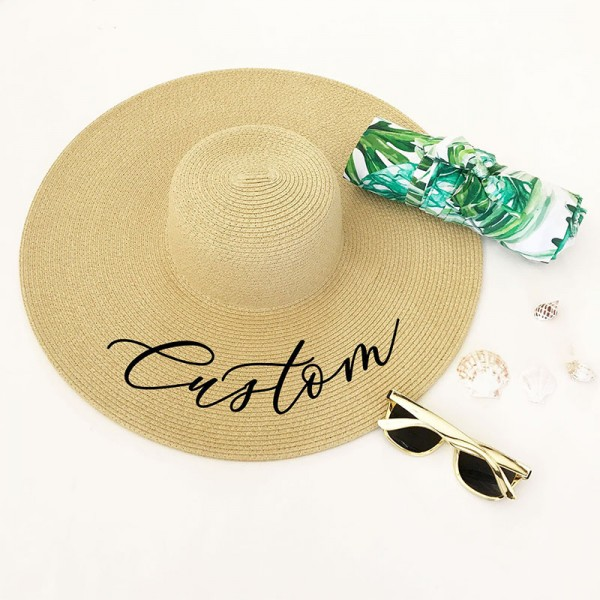 Personalized Bridesmaid Sun Hats