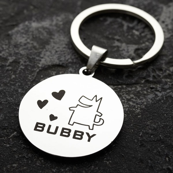 Personalized Funny Hand Stamped Pet Tag