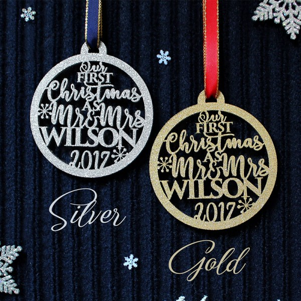 2018 personalized Our First Christmas Ornament