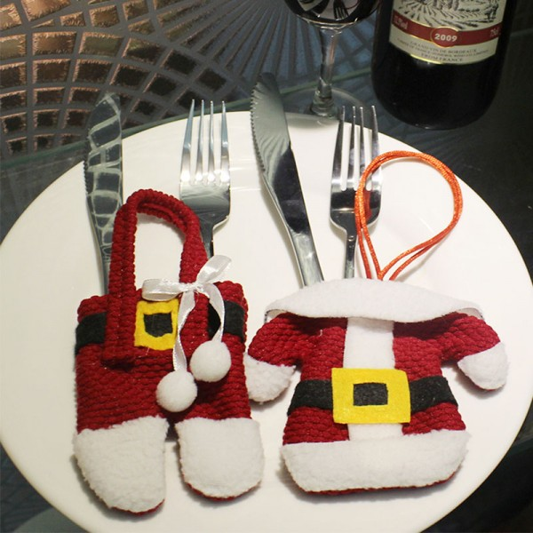 Christmas Mini-suit Set Cutlery Tableware Cover