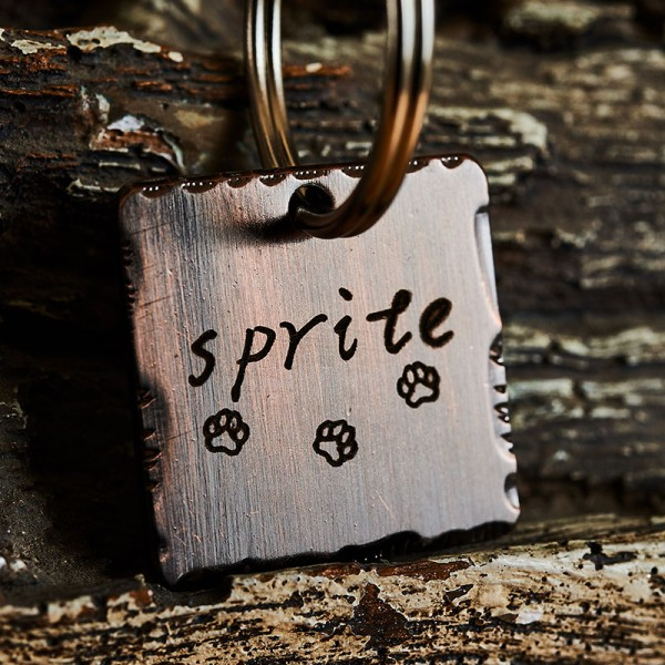 Handsatmped Pet Tag Dog tag