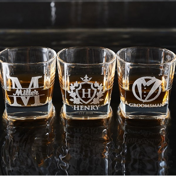 Monogrammed Whiskey Glasses