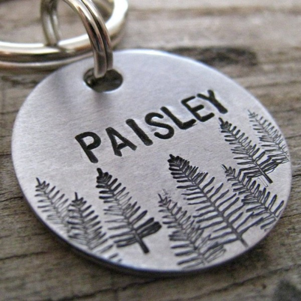 Mini Tree Line Dog Tag
