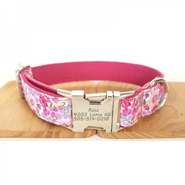 Pink Angel Dog Collar