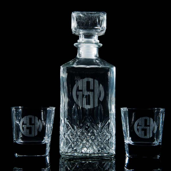 b1a24a7eb35 Engraved Liquor Decanter Set | PersonalizedCart.com