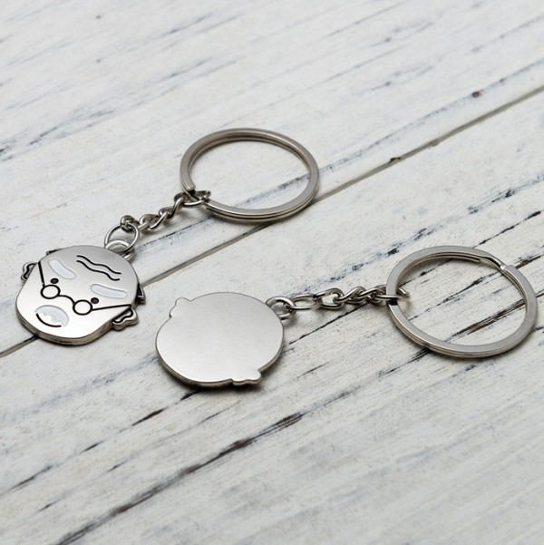personalized grandpa and grandma keychain