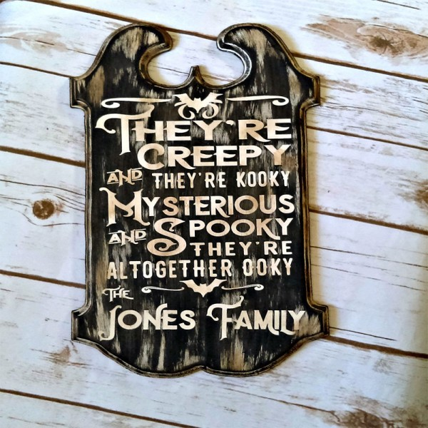 Personalized Halloween Decor
