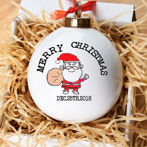 Funny Christmas Santa Ball