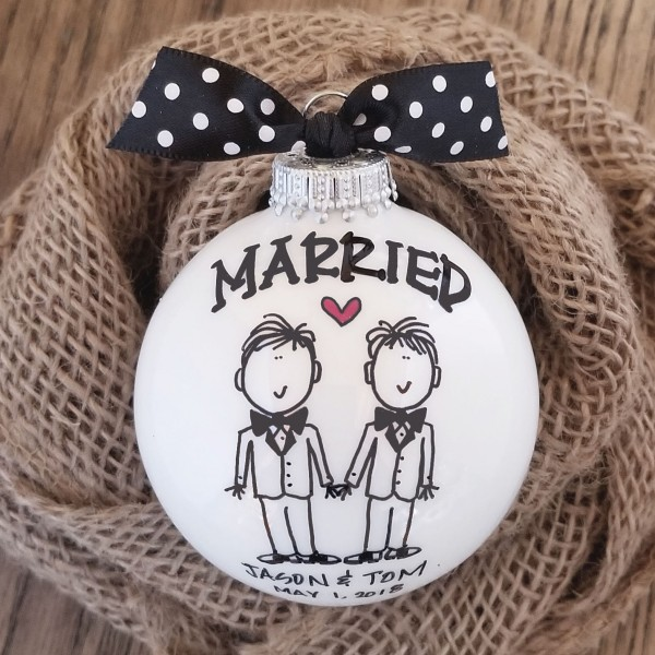 Personalized Married Ornament