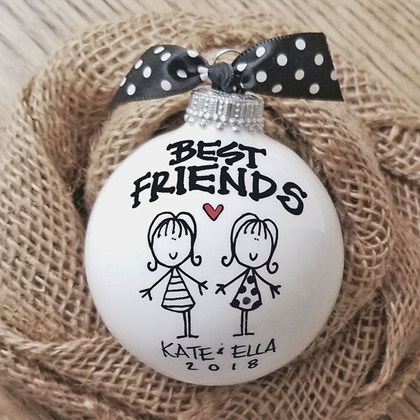 Personalized Best Friend Ornament