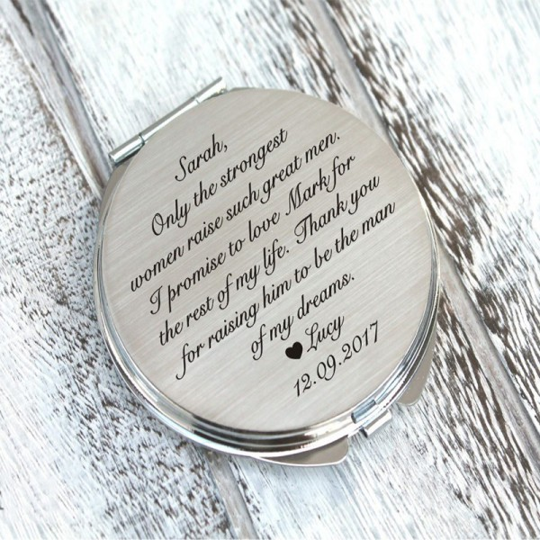 Personalized engraved pocket mirror