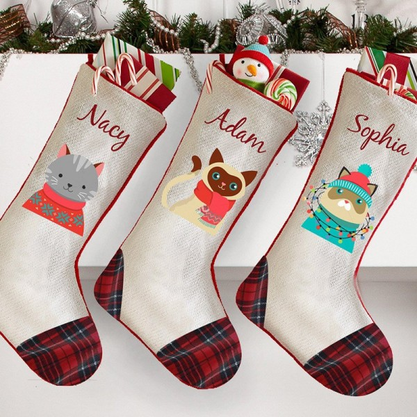 Pet Embroidered Christmas Stocking