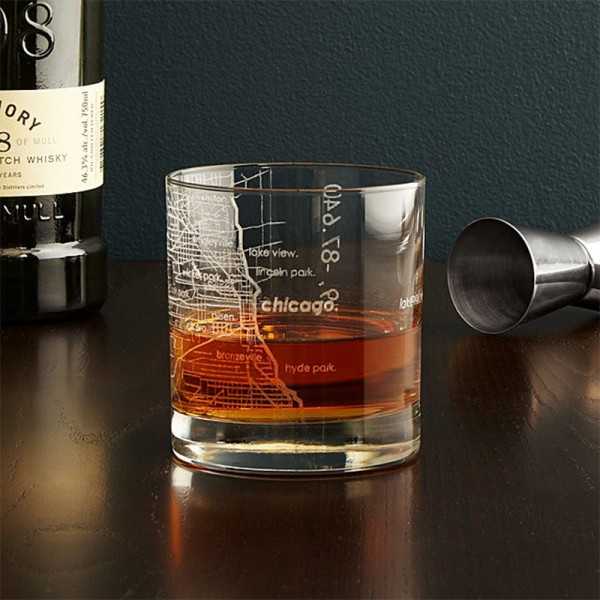 City Map Whisky Glass