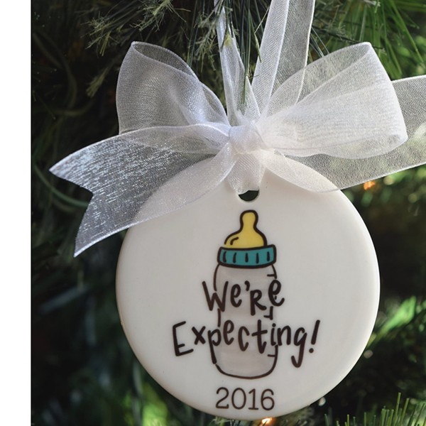 f28c46abed1a We re Expecting Baby Christmas Ornament