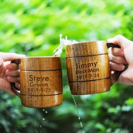 Personalized Wooden Mug